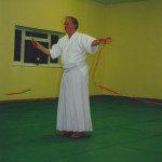 Sensei Williams cuts the ribbon